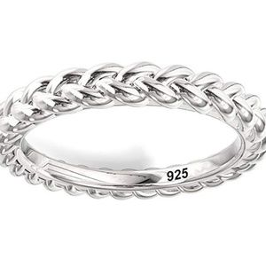 Braid ring sterling silver